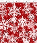 Winter Twist Snowflakes Red